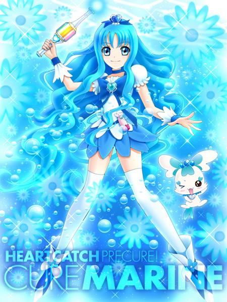 Tags: Anime, Sekken Kasu Barrier, Heartcatch Precure!, Kurumi Erika, Cure Marine, Coffret, Pixiv, Fanart
