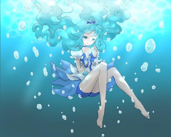 Tags: Anime, Pixiv Id 4520770, Heartcatch Precure!, Kurumi Erika, Cure Marine, Pixiv, Fanart From Pixiv, Fanart
