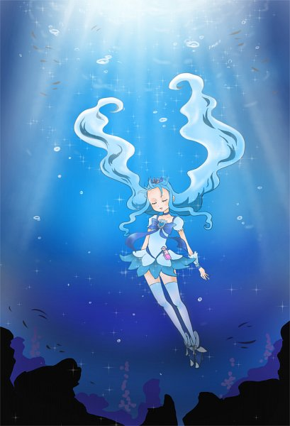Tags: Anime, Pixiv Id 1608718, Heartcatch Precure!, Kurumi Erika, Cure Marine, Pixiv, Fanart From Pixiv, Fanart