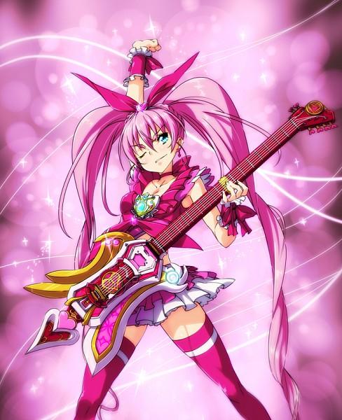 Tags: Anime, Nekomamire, Suite Precure♪, Kamen Rider Hibiki, Kamen Rider Series, Hojo Hibiki, Cure Melody, Pixiv, Fanart