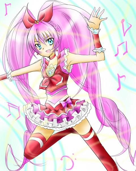 Tags: Anime, Pixiv Id 1202701, Suite Precure♪, Hojo Hibiki, Cure Melody, Pink Armwear, Fanart, Fanart From Pixiv, Pixiv