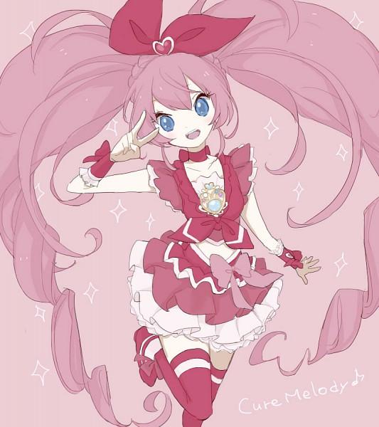 Tags: Anime, Nekosuke, Suite Precure♪, Cure Melody, Hojo Hibiki, Fanart From Pixiv, Pixiv, Fanart
