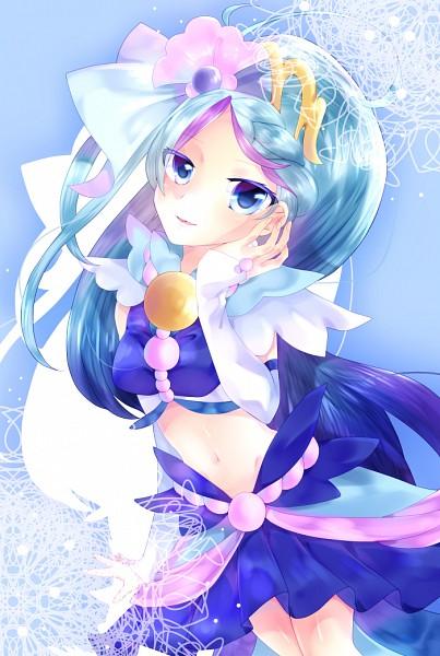 Tags: Anime, Pixiv Id 2107061, Go! Princess Precure, Kaidou Minami, Cure Mermaid, Mobile Wallpaper, Fanart From Pixiv, Pixiv, Fanart