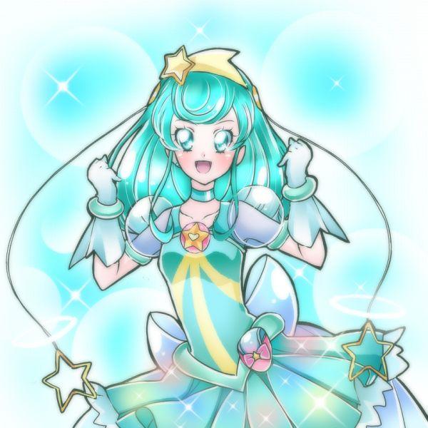 Tags: Anime, Shunciwi, Star☆Twinkle Precure, Hagorumo Lala, Cure Milky, Aqua Dress, Twitter, Fanart From Pixiv, Pixiv, Fanart