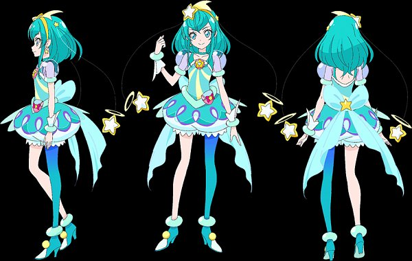 Tags: Anime, Takahashi Akira, Toei Animation, Star☆Twinkle Precure, Cure Milky, Hagorumo Lala, Character Sheet, Official Art