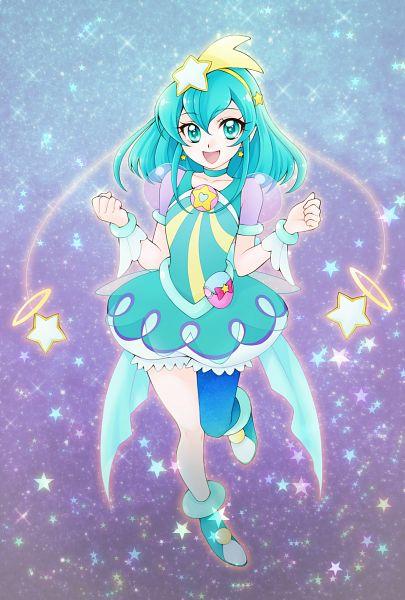 Tags: Anime, Pixiv Id 10336702, Star☆Twinkle Precure, Cure Milky, Hagorumo Lala, Aqua Dress, Fanart From Pixiv, Pixiv, Fanart, Twitter
