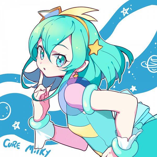 Tags: Anime, Pixiv Id 4453385, Star☆Twinkle Precure, Hagorumo Lala, Cure Milky, Fanart From Pixiv, Pixiv, Fanart
