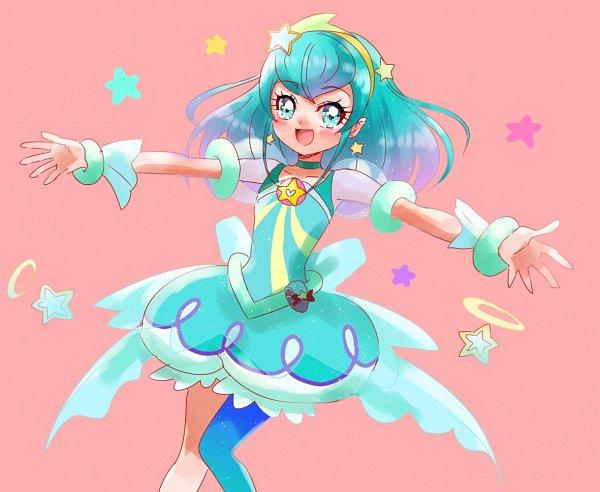 Tags: Anime, Pixiv Id 1706251, Star☆Twinkle Precure, Cure Milky, Hagorumo Lala, Aqua Dress, Twitter, Fanart From Pixiv, Pixiv, Fanart