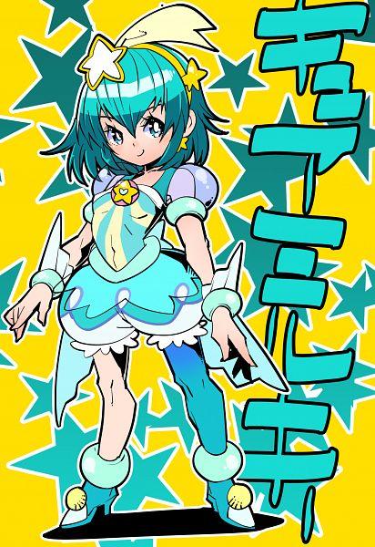 Tags: Anime, Pixiv Id 4776, Star☆Twinkle Precure, Hagorumo Lala, Cure Milky, Aqua Dress, Fanart From Pixiv, Pixiv, Fanart