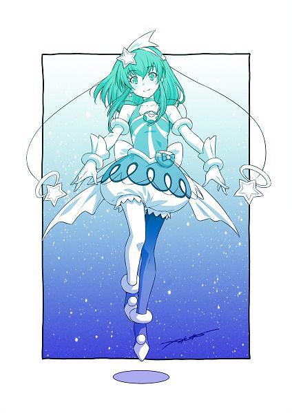 Tags: Anime, Kazuma Muramasa, Star☆Twinkle Precure, Hagorumo Lala, Cure Milky, Aqua Dress, Pixiv, Fanart, Fanart From Pixiv