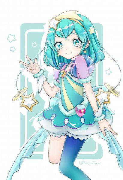 Tags: Anime, Pixiv Id 35829422, Star☆Twinkle Precure, Hagorumo Lala, Cure Milky, Aqua Dress, Fanart From Pixiv, Pixiv, Fanart