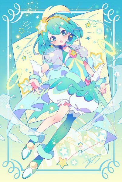 Tags: Anime, Yumenouchi, Star☆Twinkle Precure, Cure Milky, Hagorumo Lala, Pixiv, Fanart, Fanart From Pixiv