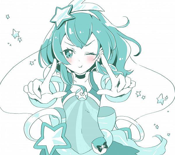 Tags: Anime, Pixiv Id 3011051, Star☆Twinkle Precure, Hagorumo Lala, Cure Milky, Aqua, Fanart, Fanart From Pixiv, Pixiv