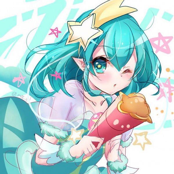 Tags: Anime, Mizuno Eru, Star☆Twinkle Precure, Hagorumo Lala, Cure Milky, Aqua Dress, Fanart From Pixiv, Pixiv, Fanart