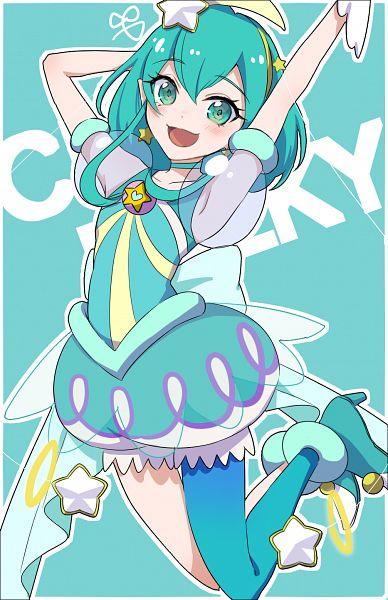 Tags: Anime, Pixiv Id 14245821, Star☆Twinkle Precure, Hagoromo Lala, Cure Milky, Fanart From Pixiv, Pixiv, Fanart