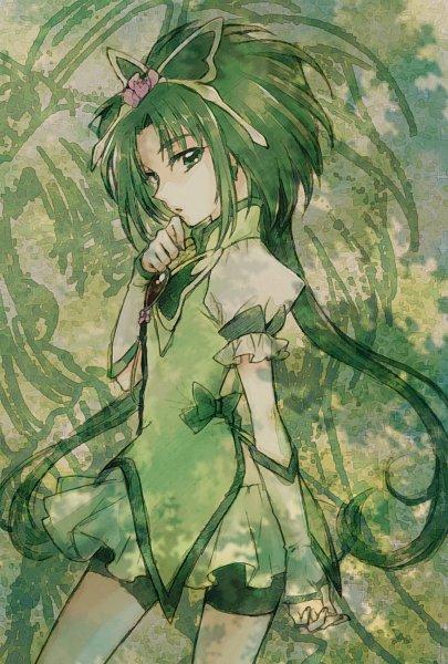 Tags: Anime, Pixiv Id 10336702, Yes! Precure 5, Cure Mint, Akimoto Komachi, Green Armwear, Green Shorts, Pixiv, Twitter, Fanart From Pixiv, Fanart