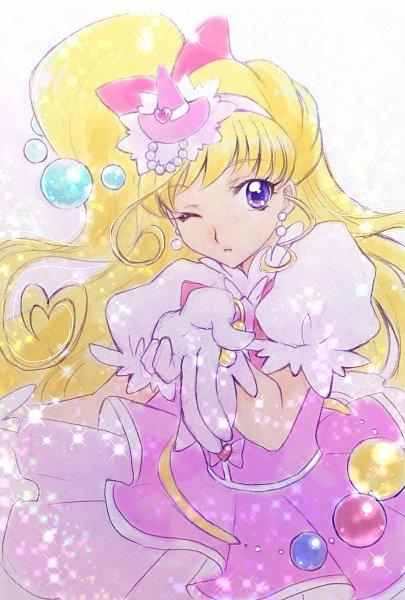 Tags: Anime, Pixiv Id 10336702, Mahou Tsukai Precure!, Cure Miracle, Asahina Mirai, Blowing A Kiss, Fanart From Pixiv, Pixiv, Fanart, Twitter