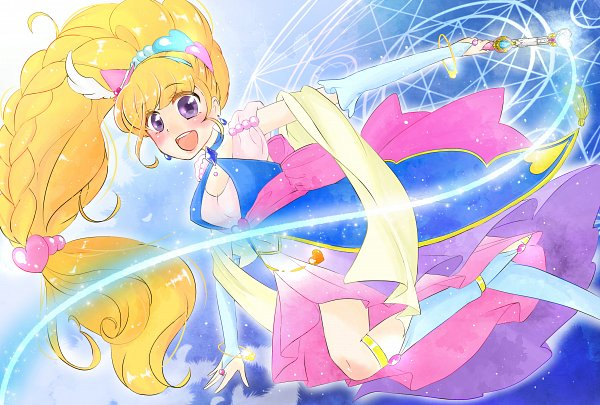 Tags: Anime, Pixiv Id 13493601, Mahou Tsukai Precure!, Asahina Mirai, Cure Miracle, Pixiv, Fanart, Twitter, Sapphire Style, Fanart From Pixiv