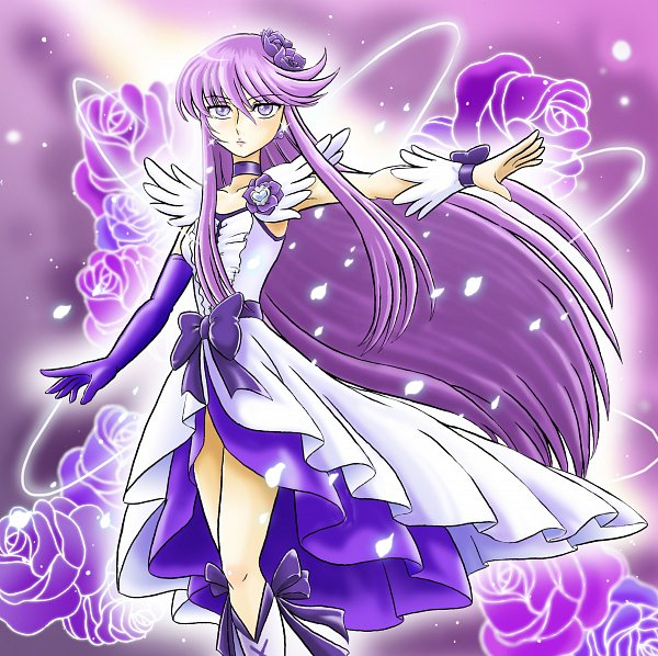 Tags: Anime, Hoshikawa Tsukimi, Heartcatch Precure!, Cure Moonlight, Tsukikage Yuri, Fanart From Pixiv, Pixiv, Fanart