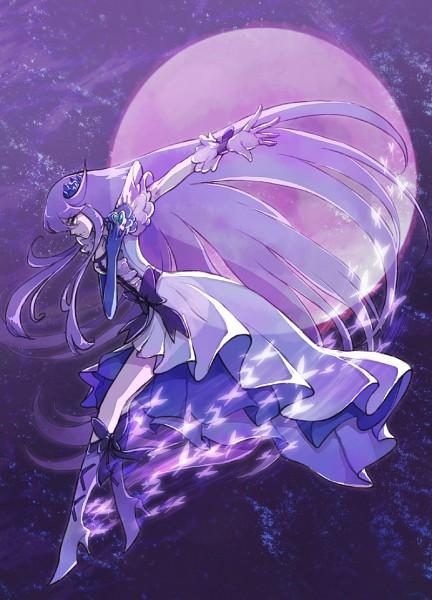 Tags: Anime, Nira Garo, Heartcatch Precure!, Cure Moonlight, Tsukikage Yuri, Mobile Wallpaper, Pixiv, Fanart