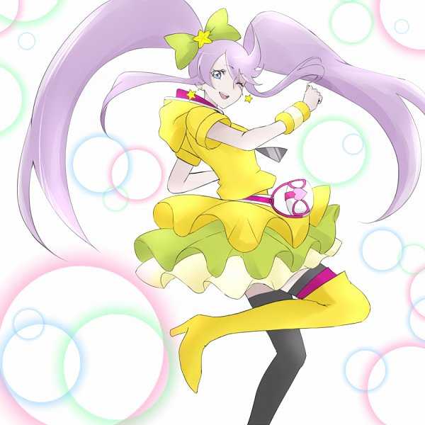 Tags: Anime, Pixiv Id 1048182, Heartcatch Precure!, HappinessCharge Precure!, Tsukikage Yuri, Cure Moonlight, Cure Lovely (Cosplay), Lollipop Hiphop, Pixiv, Fanart From Pixiv, Fanart