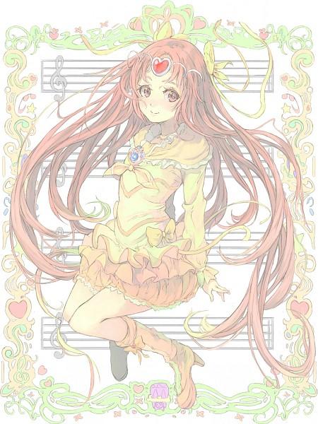 Tags: Anime, Toromi Chuuka, Suite Precure♪, Shirabe Ako, Cure Muse, Dori (Suite Precure), Puffy Skirt, Music Staff, Pixiv, Fanart From Pixiv, Fanart, Fairy Tones