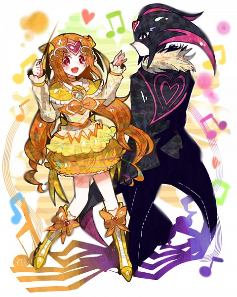 Tags: Anime, Ringetsumon, Suite Precure♪, Cure Muse, Shirabe Ako, Cure Muse (Masked), Pixiv, Fanart, Fanart From Pixiv