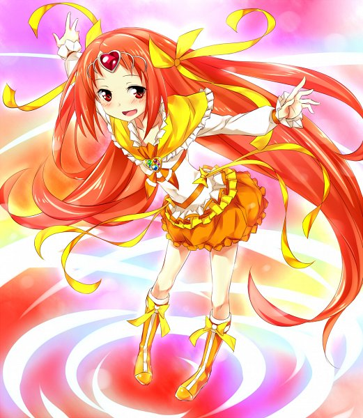 Tags: Anime, Keikotsu, Suite Precure♪, Cure Muse, Shirabe Ako, Yellow Footwear, Pixiv, Fanart, Fanart From Pixiv