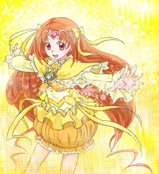 Tags: Anime, Uyoshi, Suite Precure♪, Cure Muse, Shirabe Ako, Yellow, Fanart, Pixiv, Fanart From Pixiv