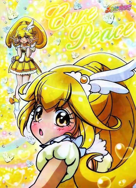 Tags: Anime, Miyamoto Hiroshi, Smile Precure!, Kise Yayoi, Cure Peace, Official Art, CG Art