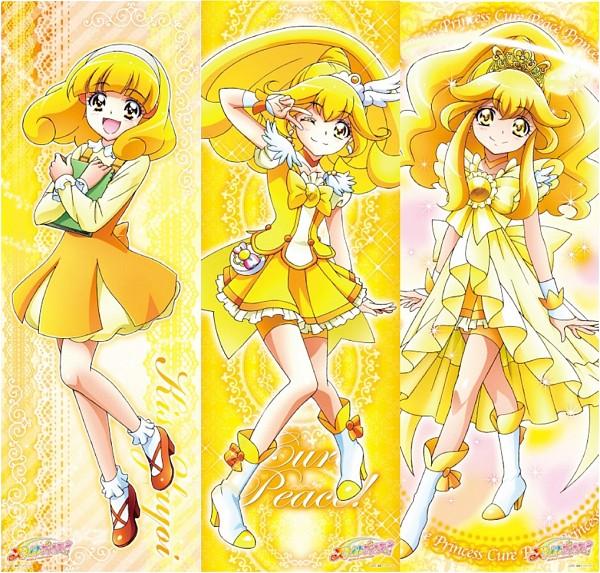 Tags: Anime, Toei Animation, Smile Precure!, Cure Peace, Kise Yayoi, Boa Abierta, Official Art