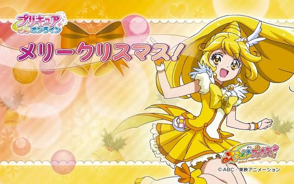 Tags: Anime, Toei Animation, Smile Precure!, Kise Yayoi, Cure Peace, Official Art, Wallpaper