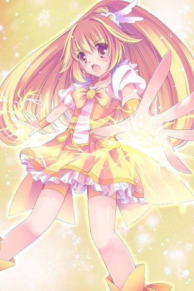 Tags: Anime, muku, Smile Precure!, Cure Peace, Kise Yayoi, Yellow Shorts, Fanart, Fanart From Pixiv, Pixiv