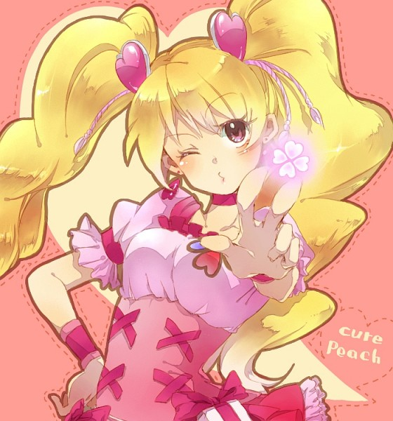 Tags: Anime, Pixiv Id 1781504, Ker, Fresh Precure!, Cure Peach, Momozono Love, Pixiv, Fanart From Pixiv, Fanart