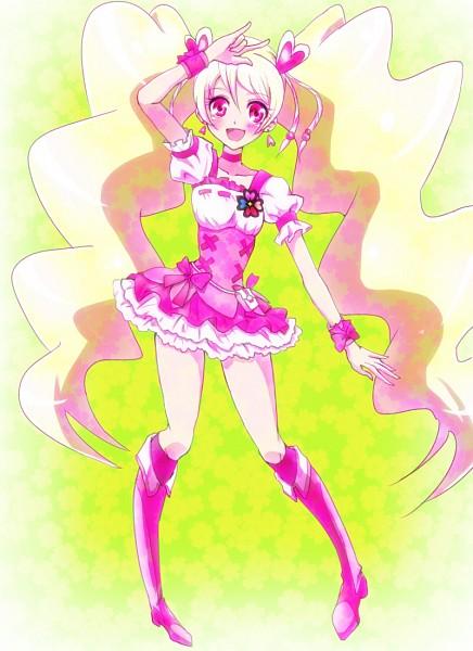 Tags: Anime, Pixiv Id 1706251, Fresh Precure!, Cure Peach, Momozono Love, Pixiv, Fanart From Pixiv, Fanart