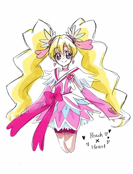 Tags: Anime, Fpminnie1, Fresh Precure!, Cure Peach, Momozono Love, Pink Shorts, Pink Armwear, Cure Heart (Cosplay), Fanart, Twitter