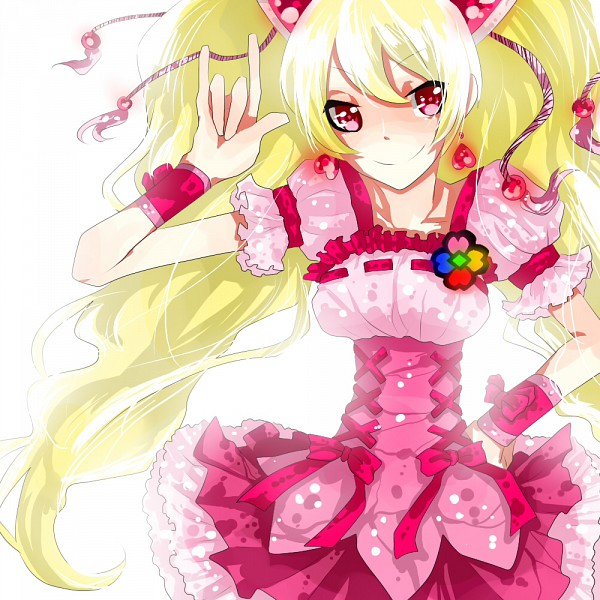 Tags: Anime, mousourinne, Fresh Precure!, Cure Peach, Momozono Love, Pixiv, Fanart From Pixiv, Fanart