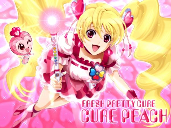 Tags: Anime, Sekken Kasu Barrier, Fresh Precure!, Cure Peach, Momozono Love, Pirun, Pixiv, Fanart From Pixiv, Fanart