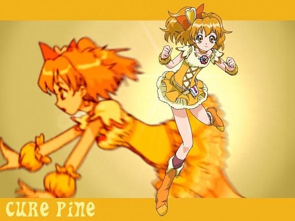 Tags: Anime, Pixiv Id 62981, Fresh Precure!, Cure Pine, Yamabuki Inori, Fanart, Pixiv, Fanart From Pixiv, Wallpaper