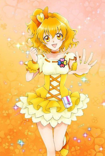 Tags: Anime, Pixiv Id 10336702, Fresh Precure!, Cure Pine, Yamabuki Inori, Orange Bow, Four-leaf Clover, Yellow Footwear, Twitter, Pixiv, Fanart From Pixiv, Fanart