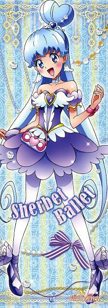 Tags: Anime, Satou Masayuki, HappinessCharge Precure!, Shirayuki Hime, Cure Princess, Ballerina Outfit, Scan, Sherbet Ballet, Official Art