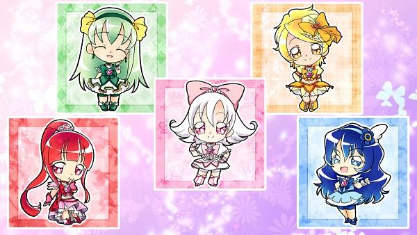 Tags: Anime, Imahia, Pretty Cure Fan Series, Kizaki Takane, Shirakase Yuki, Cure Leaf (Queentet), Cure Snow (Queentet), Cure Twilight (Queentet), Hazuki Chika (Queentet), Higure Yoshino, Cure Lycopene, Cure Sexy, Touma Riko