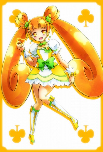 Tags: Anime, Pixiv Id 1706251, Dokidoki! Precure, Yotsuba Alice, Cure Rosetta, Clubs (Card), Pixiv, Fanart, Fanart From Pixiv