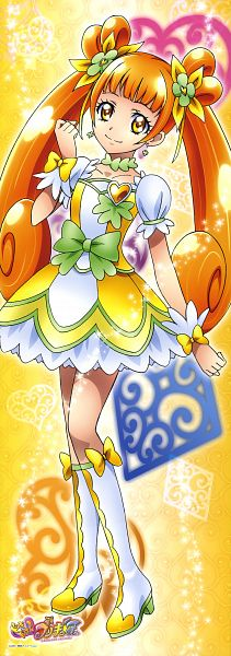 Tags: Anime, Dokidoki! Precure, Yotsuba Alice, Cure Rosetta, Official Art, Stick Poster, Scan