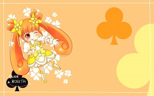 Tags: Anime, Pixiv Id 4507006, Dokidoki! Precure, Cure Rosetta, Yotsuba Alice, Clubs (Card), Pixiv, Wallpaper, Fanart, Fanart From Pixiv