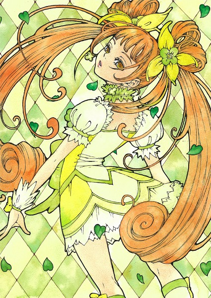 Tags: Anime, Pixiv Id 317391, Dokidoki! Precure, Cure Rosetta, Yotsuba Alice, Kneepits, Pixiv, Fanart, Fanart From Pixiv, Traditional Media
