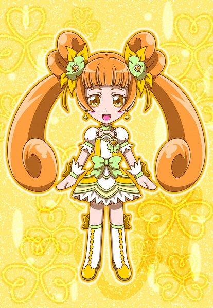 Tags: Anime, MT2Y-Monyo, Dokidoki! Precure, Yotsuba Alice, Cure Rosetta, Orange (Color), Yellow Footwear, Pixiv, Fanart, Fanart From Pixiv