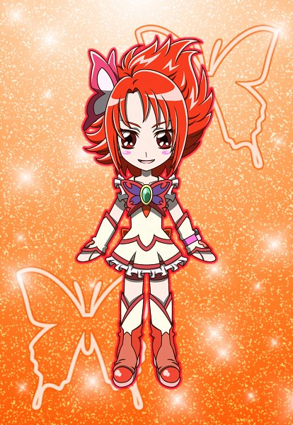 Tags: Anime, MT2Y-Monyo, Yes! Precure 5, Cure Rouge, Natsuki Rin, Red Armwear, Red Shorts, Fanart, Pixiv, Fanart From Pixiv