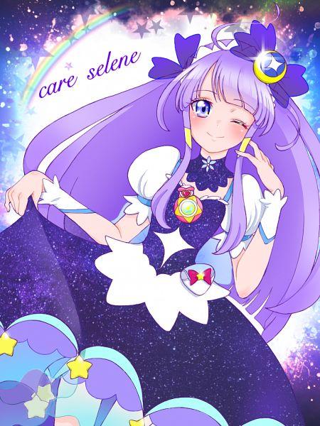 Tags: Anime, Pixiv Id 32013370, Star☆Twinkle Precure, Kaguya Madoka, Cure Selene, Fanart From Pixiv, Pixiv, Fanart