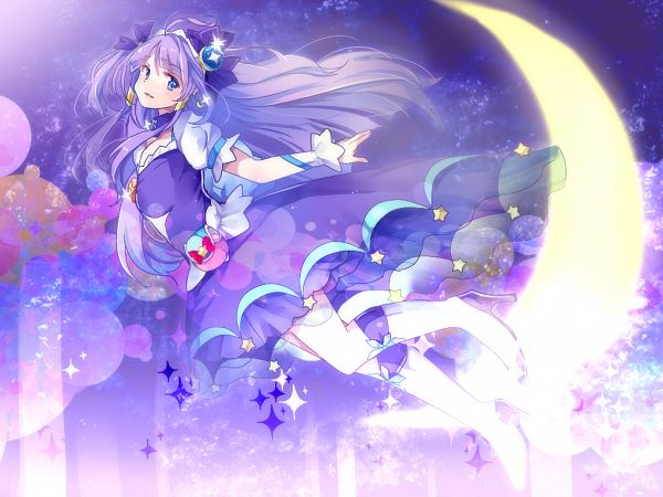 Tags: Anime, matreshka, Star☆Twinkle Precure, Kaguya Madoka, Cure Selene, Pixiv, Wallpaper, Fanart, Fanart From Pixiv